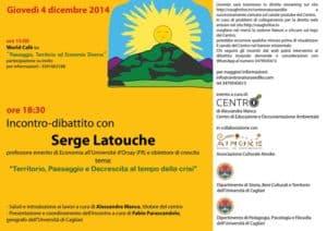 Serge Latouche a Sedilo